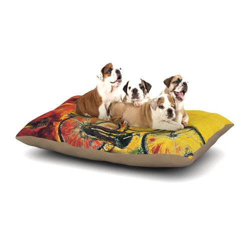 East Urban Home Josh Serafin 'To Go' Bicycle Dog Pillow w...