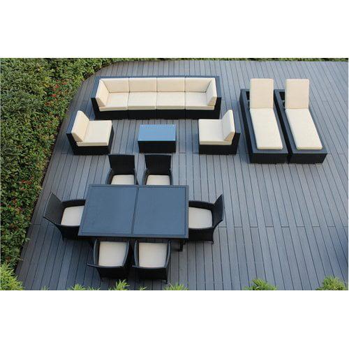 Ohana Depot Ohana 16 Piece Seating Dining and Chaise Lounge Set by