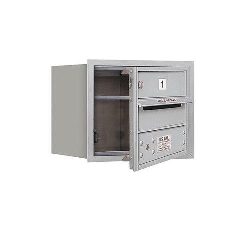 Salsbury Industries Aluminum 1 Unit High 4C Horizontal Parcel Locker