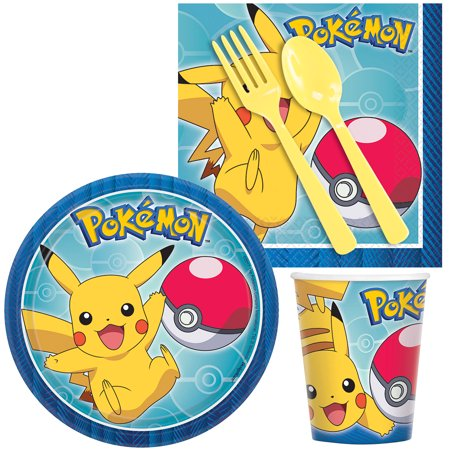 Pokemon Birthday Party Standard Tableware Kit Serves 8 - Wholesale Pokemon