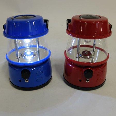 3 LED Radio Lantern Set of Two - One Red & One