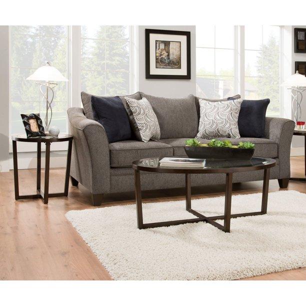 United Furniture 3 Piece Oval Coffee Table Set Walmart Com Walmart Com