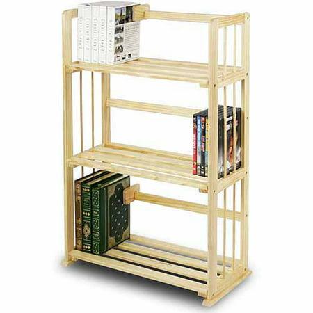Furinno FNCL-33001 Pine Solid Wood 3-Tier Bookshelf