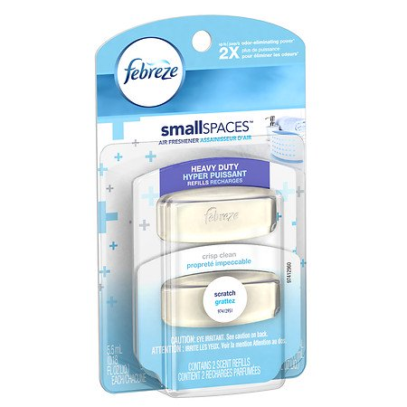 Febreze smallSPACES Heavy Duty Air Freshener Refills Crisp Clean ...