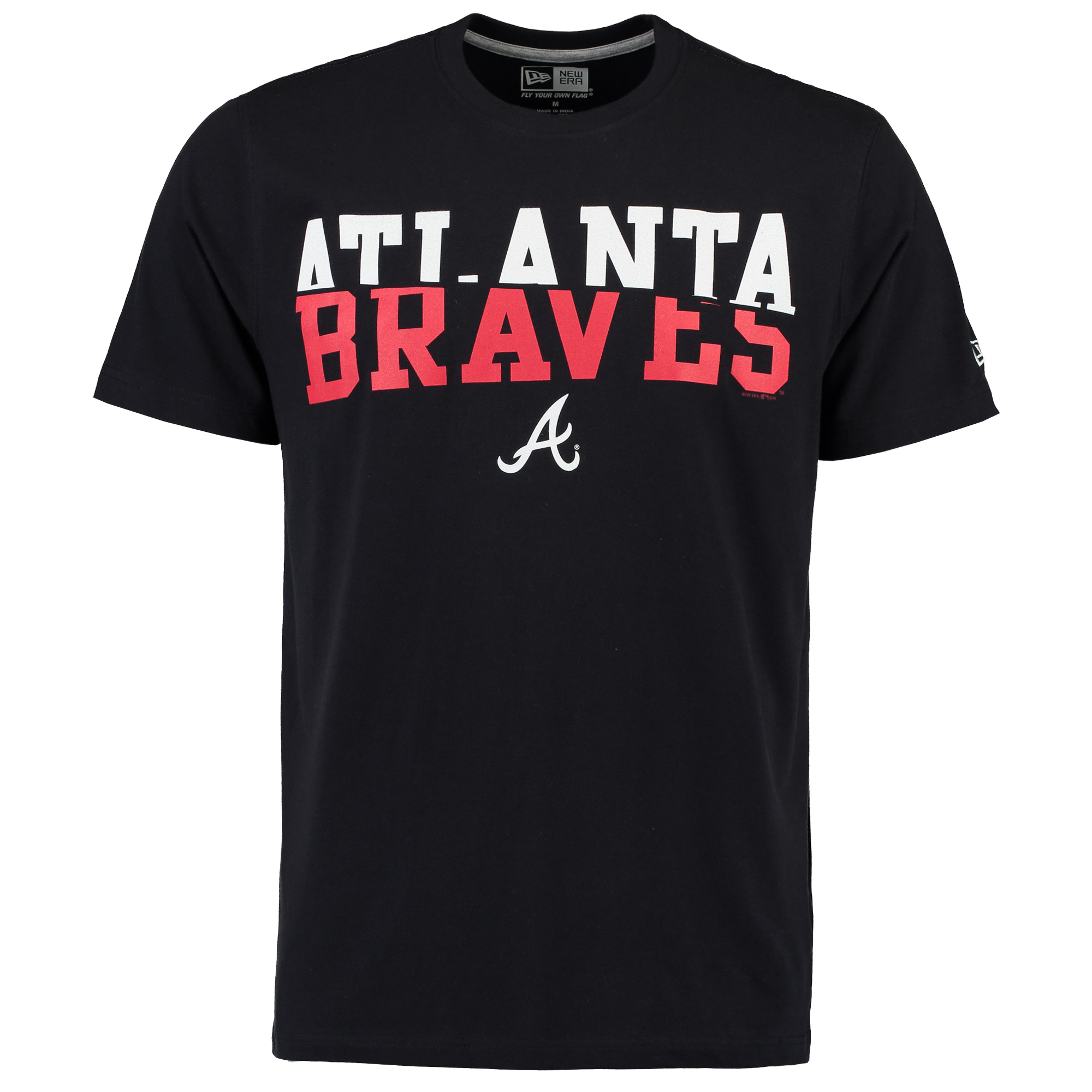 Men's New Era Navy Atlanta Braves Split Graphic T-Shirt