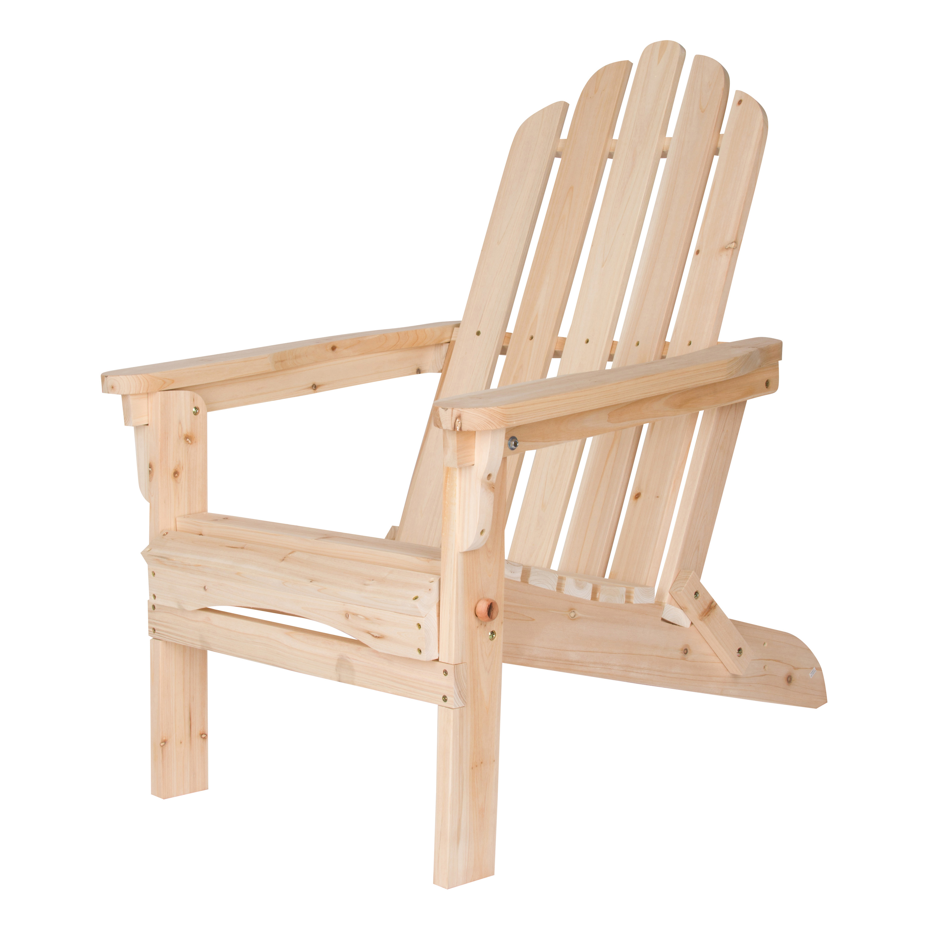 Shine Company Marina Adirondack Folding Chair - Natural