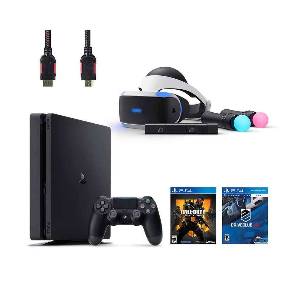 PlayStation VR Start Bundle 5 Items:VR Headset,Move Controller,PlayStation Camera Motion Sensor,PlayStation 4Call of Duty Black Ops IIII,VR Game Disc PSVR DriveClub