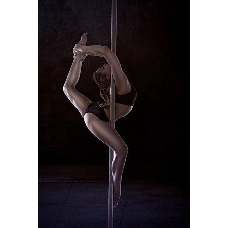 Canvas Print Polidens Girl Pylon Strip Of Plastic Pole Dance Stretched Canvas 10 x
