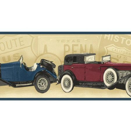879377 Classic Antique Cars Wallpaper Border Walmart Com