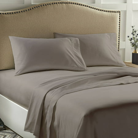 Better Homes & Gardens 400 Thread Count Solid Performance Gray Bedding Full Sheet Set
