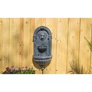 Kenroy Home Royal Outdoor Wall Fountain - Zinc Finish