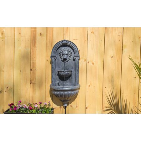 Kenroy Home Royal Outdoor Wall Fountain - Zinc