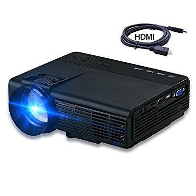 Huge Screen - 2017 projector, dihome hd multimedia video projector huge screen portable led projector support up to hd 1080p video dhp5 black