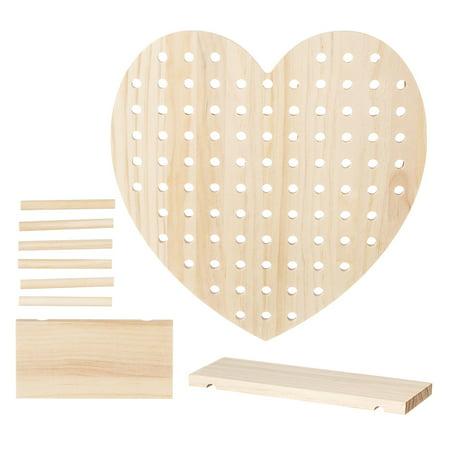 Heart Pegboards (Wooden Pegboard Heart Kit: 9)