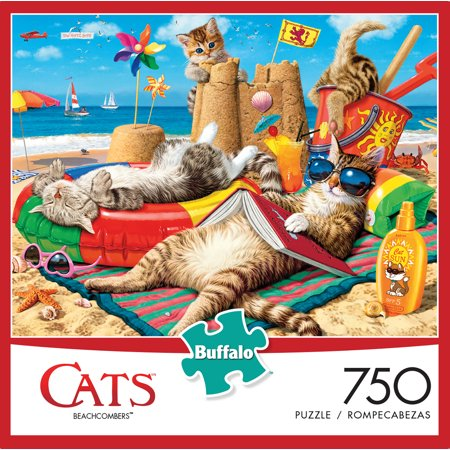 Buffalo Games - Cats Collection - Beachcombers - 750 Piece Jigsaw Puzzle (Cat Jigsaw Puzzle)