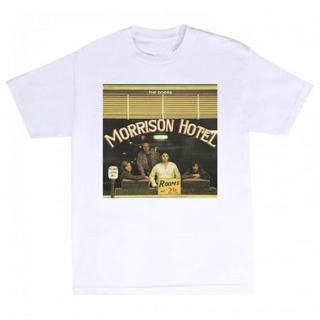 The Doors Men's Morrison Hotel Slim Fit T-Shirt White