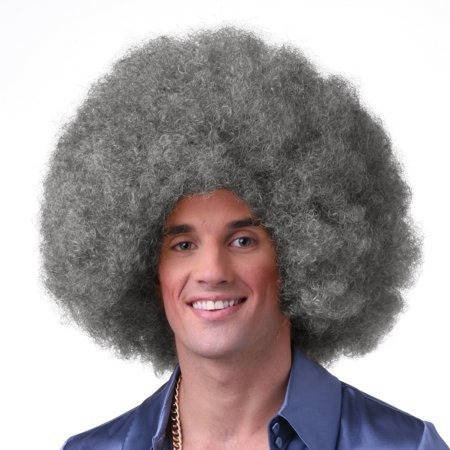 Sepia Costume Color Afro Synthetic Wig M4.27](White Afro)