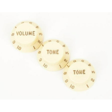 Fender Vintage Guitar Knobs (Fender (R) Stratocaster (R) Guitar Knobs Aged White (1 Volume 2 Tone) )
