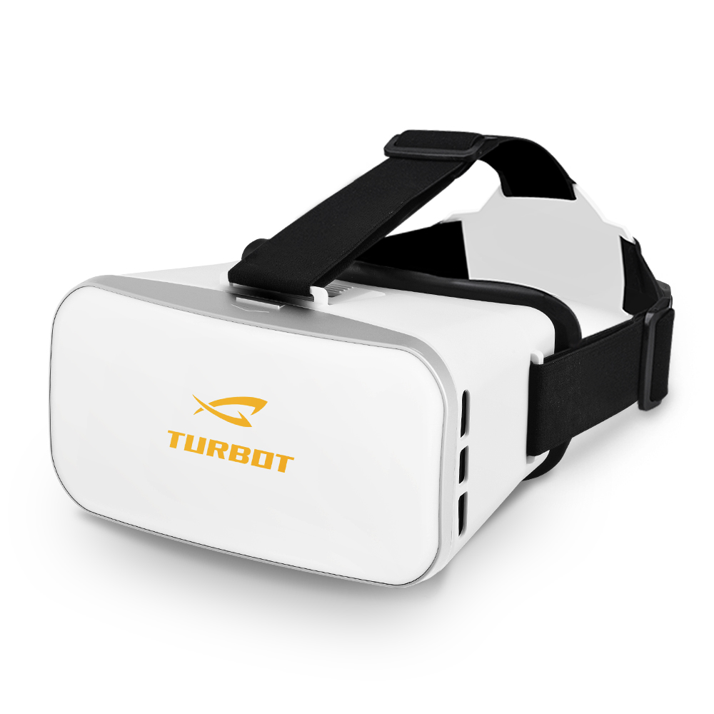 Turbot 3D VR Virtual Reality Headset Glasses with Adjustable Straps for 4.0 to 6.0 inches Smartphones iPhone 6s 6 Plus Samsung Galaxy Series for 3D Movies/Games