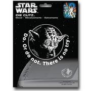 Star Wars dclswyodadicut Star Wars Yoda Die Cut Decal Sticker
