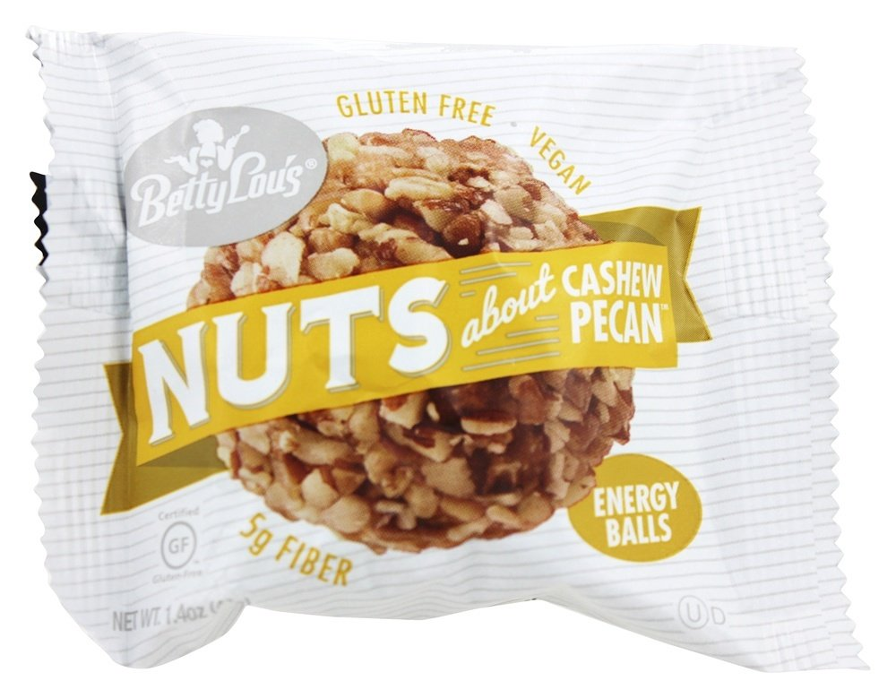 Betty Lou's Nuts About Cashew Pecan Energy Balls 1.4 oz(pack of 12) by