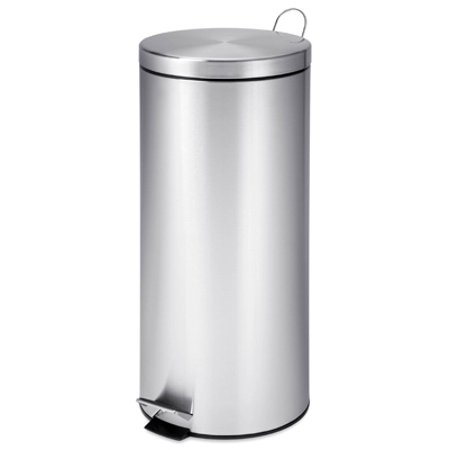 Honey Can Do 30-Liter Round Stainless Steel Can with Bucket ()