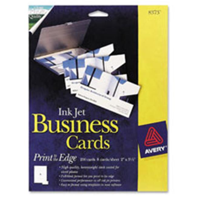 Avery AVE8373 Business Cards,Inkjet,Glossy,Matte Back,2 inch x 3. 5 inch,200-PK,WE