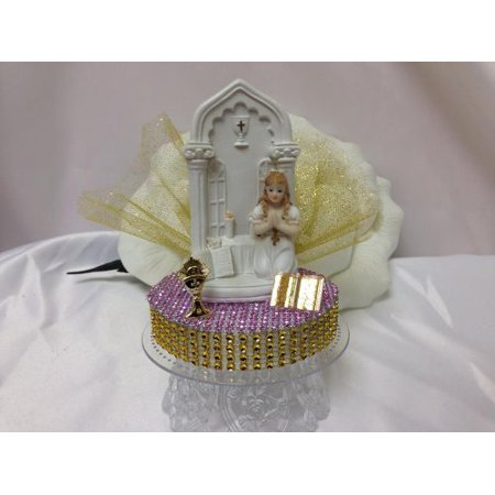 First Communion Cake (First Holy Communion Girl Cake Topper Decoration)