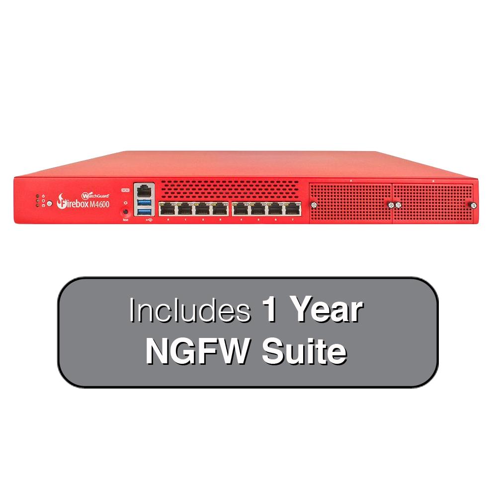 WatchGuard Firebox M4600 Next-Gen Firewall with 1-Year NGFW Suite by WatchGuard