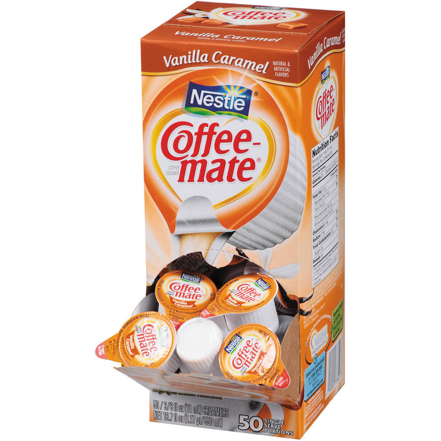 Coffee-mate Vanilla Caramel Liquid Coffee Creamer, 0.375 oz, 50 count, (Pack of 4)