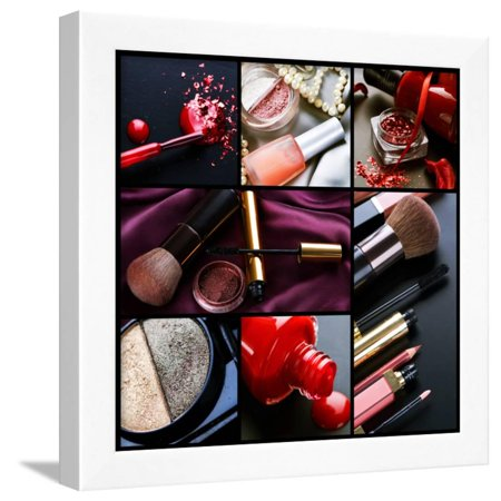 Professional Make-Up Collage Framed Print Wall Art By Subbotina (Best Way To Make A Collage)