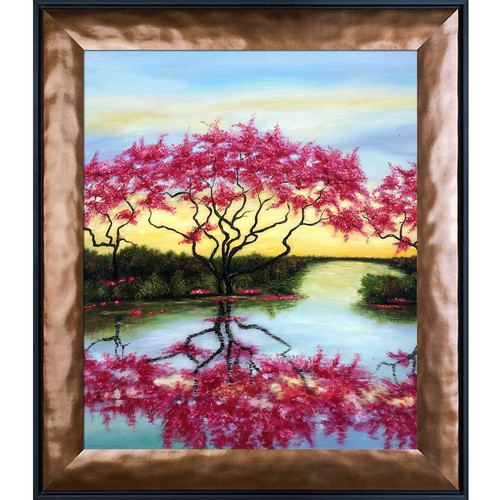 Tori Home A Flowery Tree by Susan Art Framed Original Painting