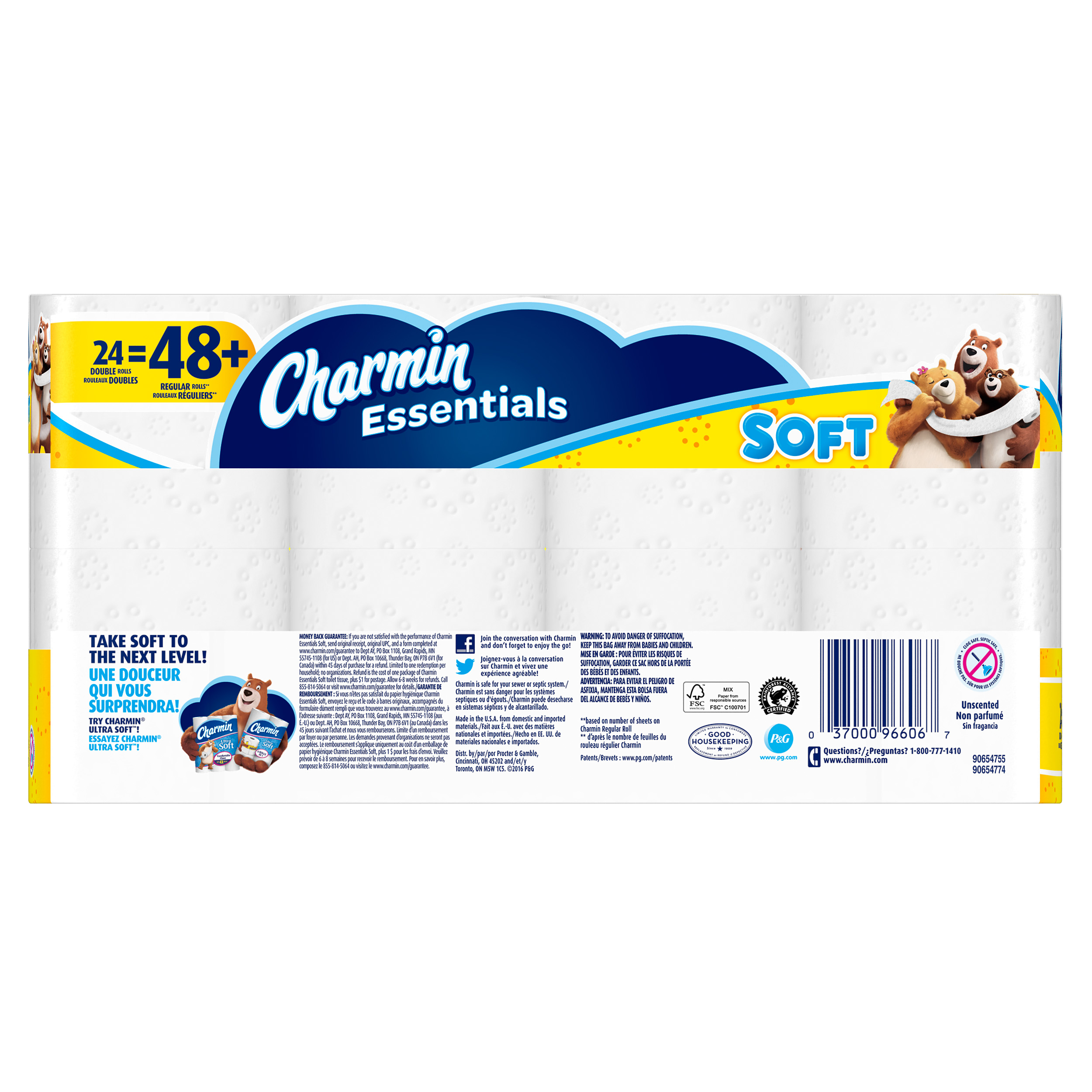 Charmin Essentials Toilet Paper Soft 24 Double Rolls