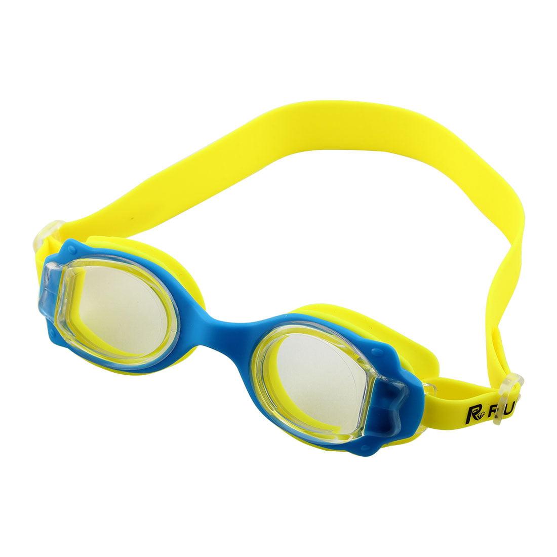 Adjustable Belt Anti Fog Swim Glasses Swimming Goggles Yellow for Kids Children by Unique-Bargains