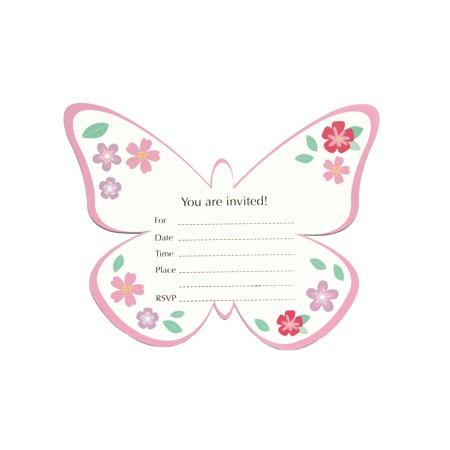 Butterfly Garden, Invitation Cards, Paper, 8 Ct.