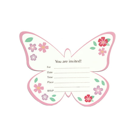 Butterfly Garden, Invitation Cards, Paper, 8 - Butterfly Invitations