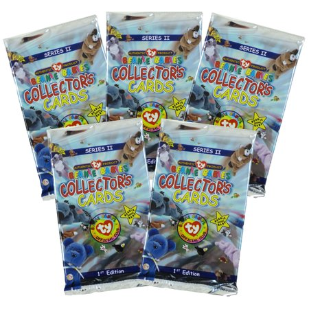 TY Beanie Babies Collectors Cards (BBOC) - Series 2 - 5 Packs Lot