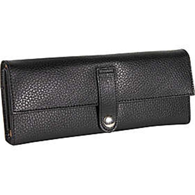 Budd Leather Pebble Grained Leather Jewel Roll