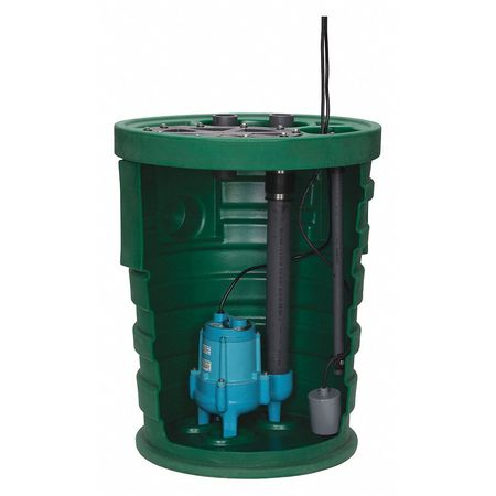 Sewage System,1/2HP,4inx3in,20 ft.,9.5A LITTLE GIANT 10SF2V3D