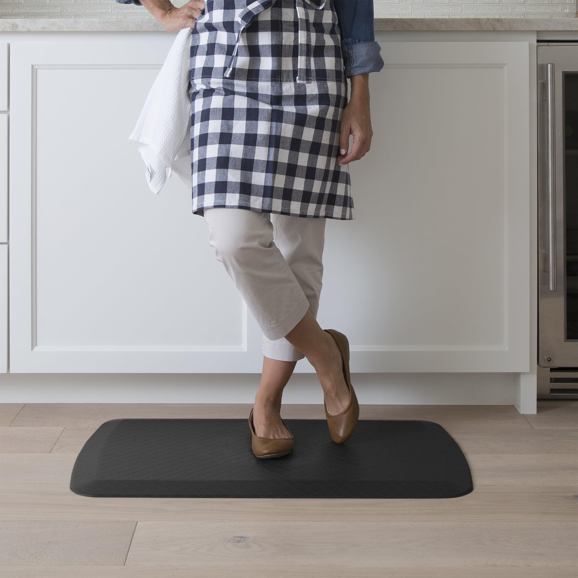 NEW! GelPro Basics Kitchen Comfort Relief Mat 20x32 Basketweave Black