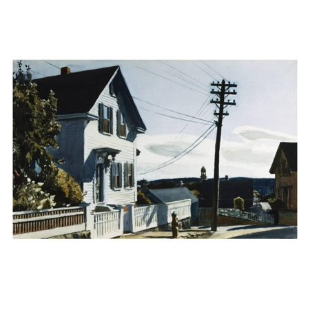 Adam's House Print Wall Art By Edward Hopper ()