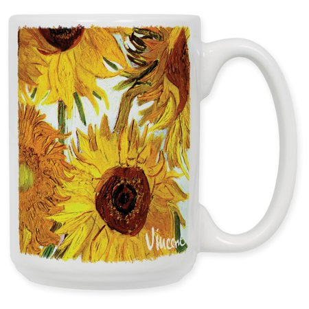 15 Ounce Ceramic Coffee Mug - Van Gogh - Sunflowers II 15 Ounce Grande Mug