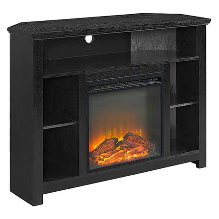 - Walker Edison 44 in. Wood Corner Highboy Fireplace TV Stand