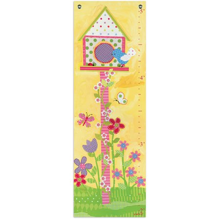 Oopsy Daisy Too Growth Chart, Sunshine Yellow Flower Star Girl Growth Chart