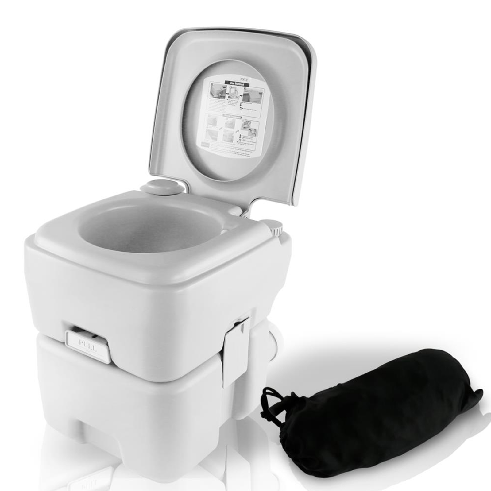Serene Life Portable Toilet - Outdoor & Travel Toilet, 5.3 Gal.