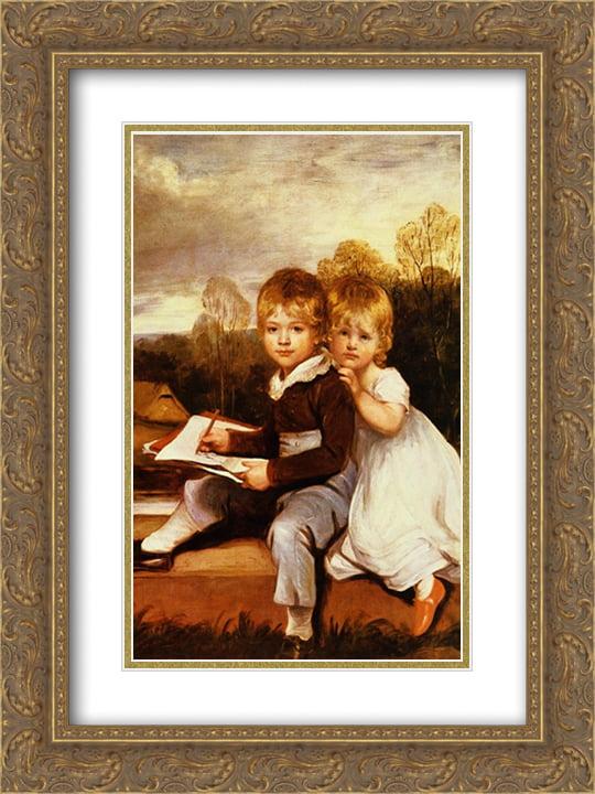 John Hoppner 2x Matted 20x24 Gold Ornate Framed Art Print The Bowden Children Walmart Com Walmart Com