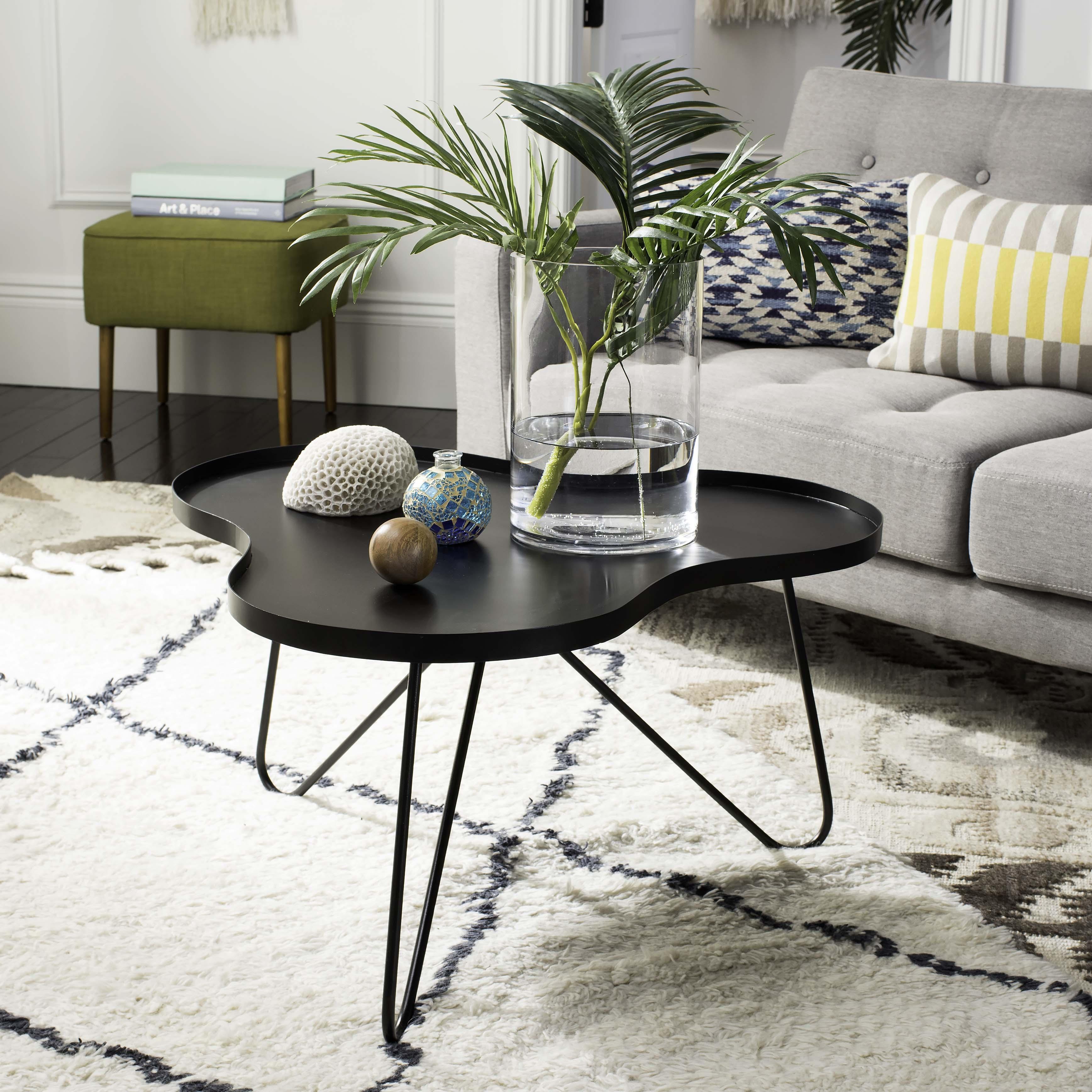 Safavieh Lenna Mid-Century Solid Coffee Table, Black