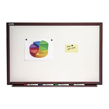 Ability One 6305169 36 x 24 in. Skilcraft Quartet Magnetic Porcelain Dry Erase Brown Board, White - image 1 of 1
