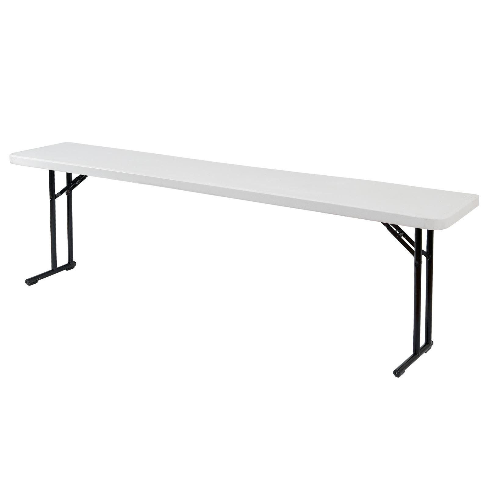 National Public Seating Lightweight 72 in. Rectangle Folding Seminar Table - White