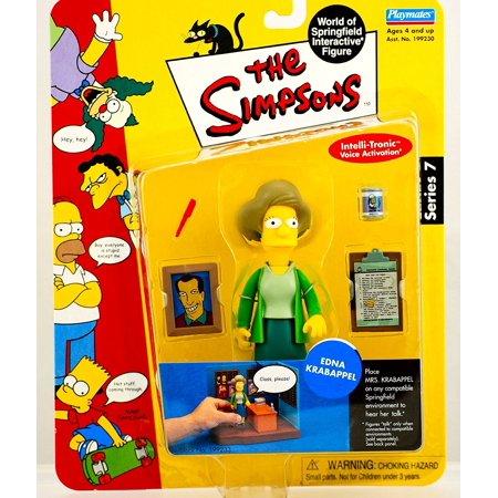 Simpsons Series 7 Edna Krabappel Action Figure, EDNA KRABAPPEL The Simpsons Series 7 World Of Springfield Interactive Action Figure By The Simpsons ()